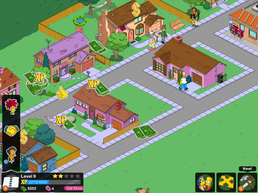 The Simpsons: Tapped Out на iPad2